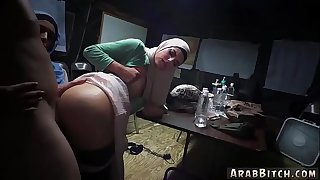 Arab man white female and girl xxx Sneaking in the Base!