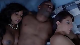 Ebony housewife and friend jism swapping